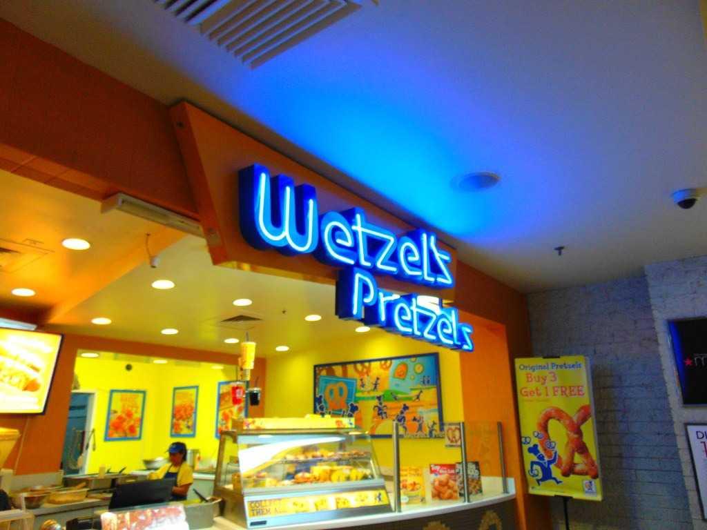 بهترین شیرینی پزی های زنجیره ای دنیا: Wetzel's Pretzels
