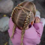 بافت مو دخترانه فرانسوی دو طرفه