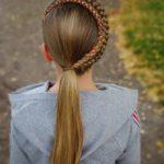 بافت مو دخترانه فرانسوی یکطرفه