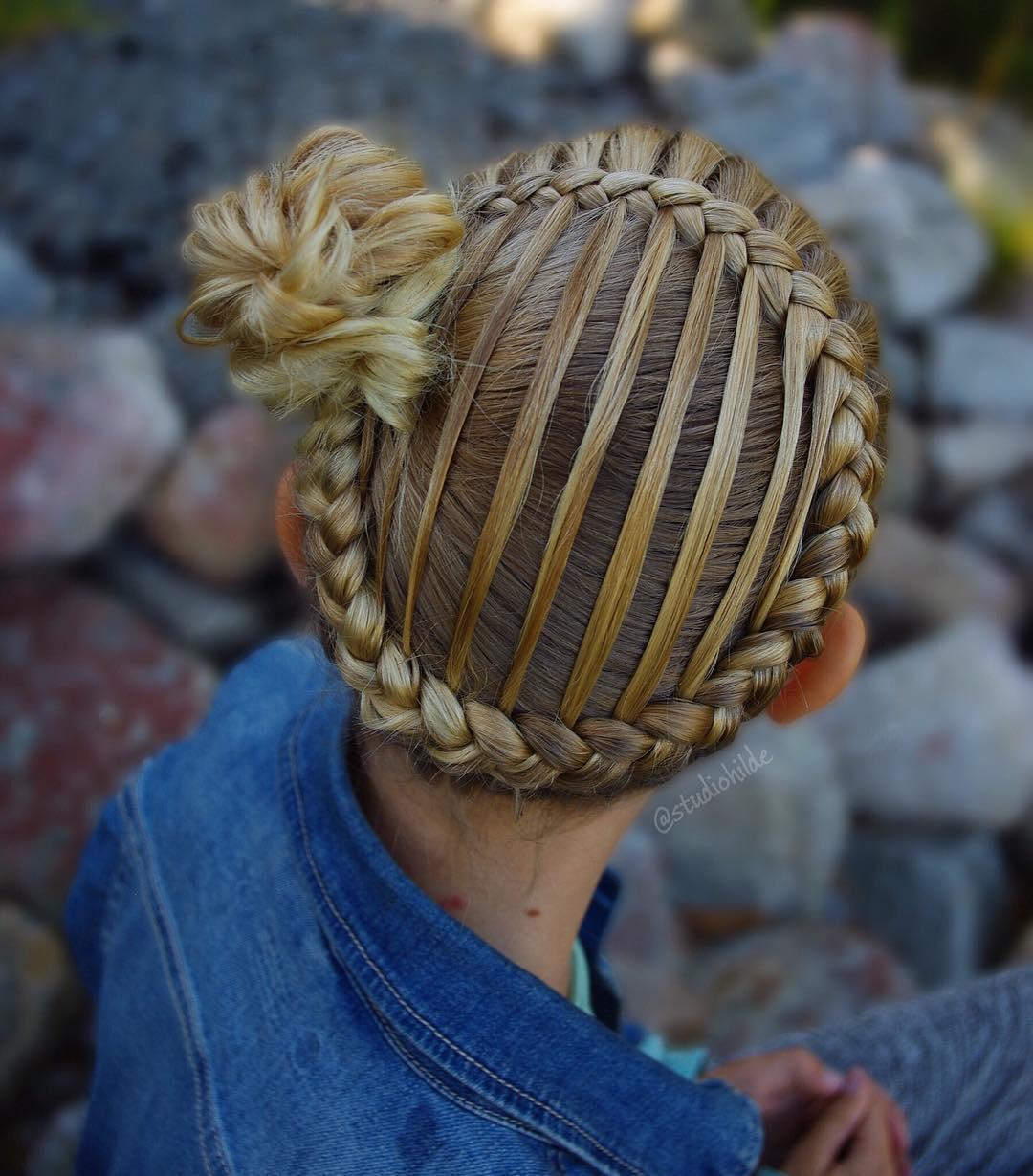 شیک ترین بافت مو دخترانه فرانسوی حصیری