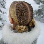بافت مو دخترانه فرانسوی