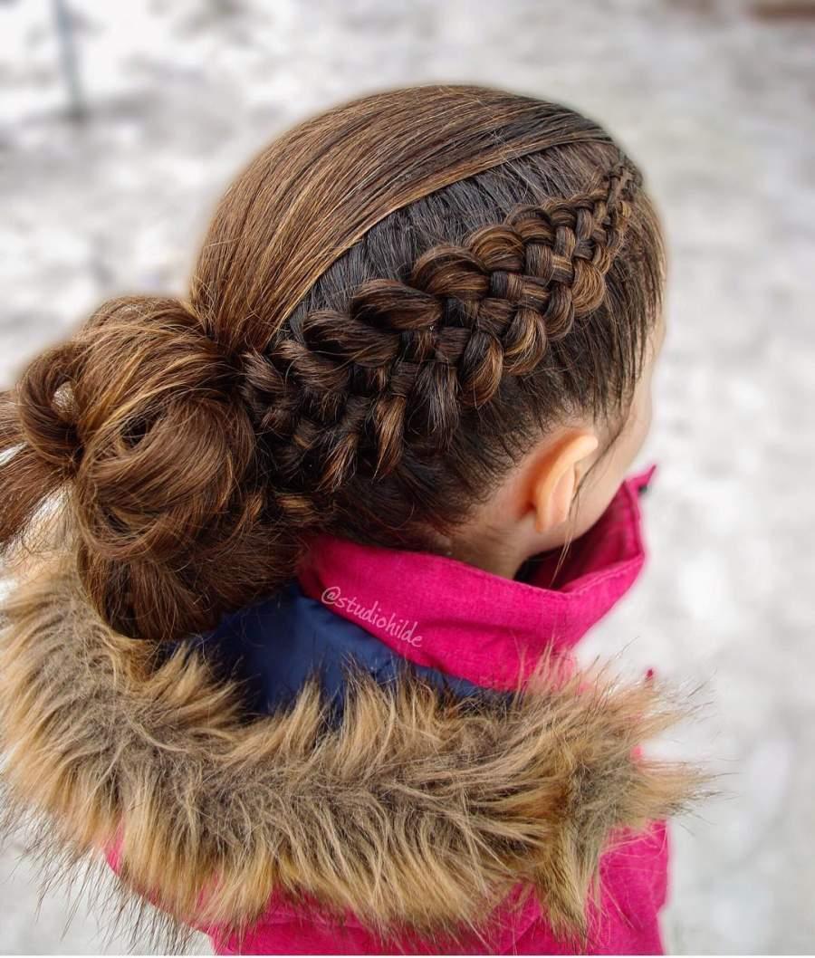 مدل بافت مو دخترانه با کلاس فرانسوی