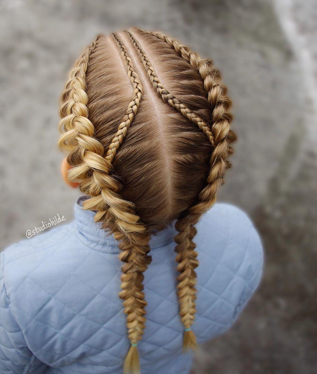 مدل بافت مو دخترانه فرانسوی زیبا