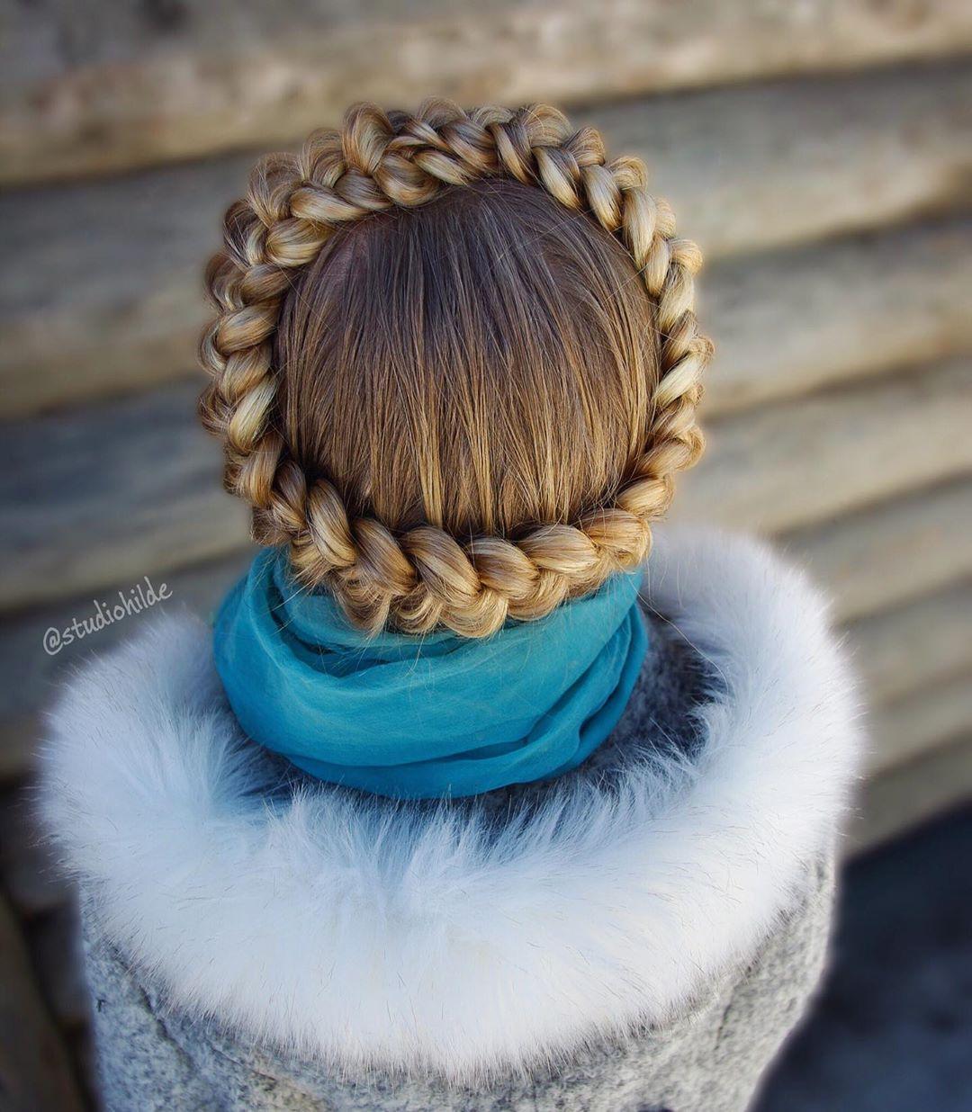 مدل بافت مو فرانسوی دور سر