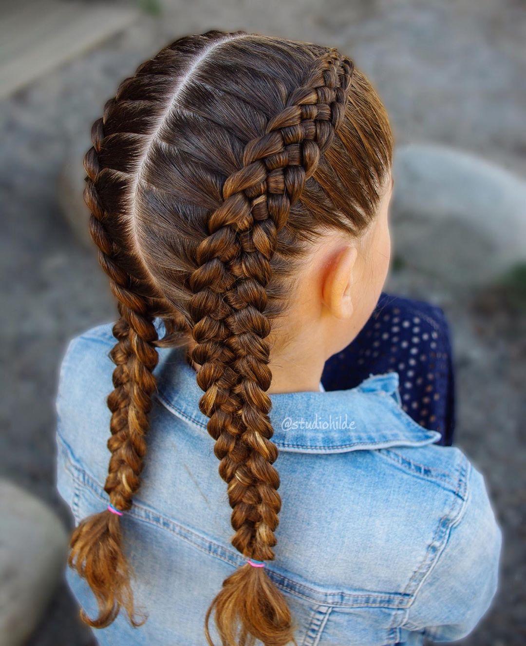 مدل بافت مو دخترانه فرانسوی شیک