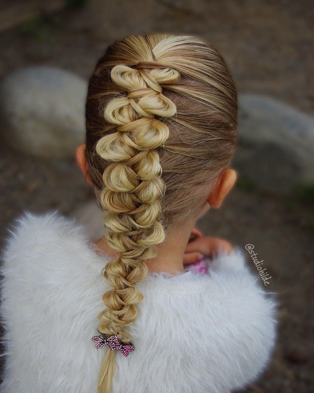 بافت مو دخترانه فرانسوی جدید