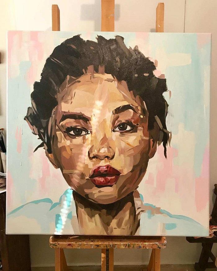 عکس نقاشی دختر فانتزی و مدرن