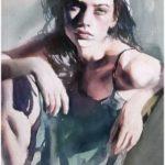 عکس نقاشی دخت زیبا با آبرنگ