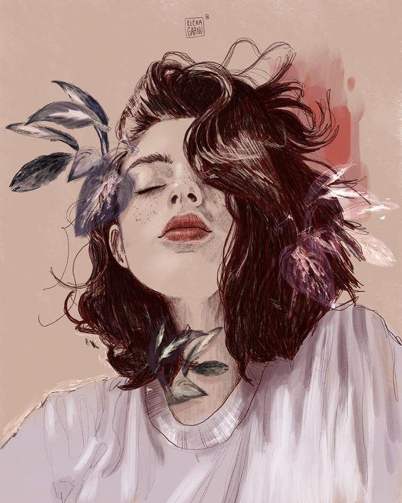 عکس نقاشی دخترانه زیبا با آبرنگ