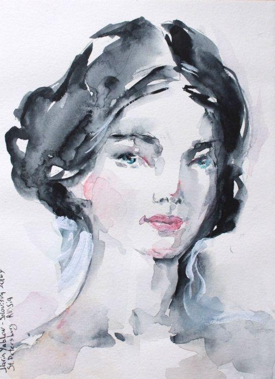 عکس نقاشی دخترونه با آبرنگ
