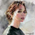 عکس نقاشی دختر فانتزی و جدید