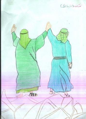 نقاشی عید غدیر خم برای کودکان