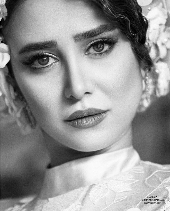 عکس سیاه سفید الناز حبیبی