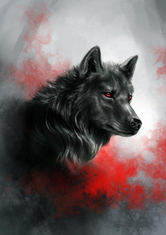 نقاشی گرگ وحشی و نمونه های زیبا از طراحی سیاه قلم گرگ