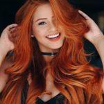 عکس دختر مو قرمز زیبا