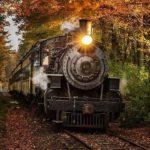 والپیپر قطار در پاییز برای موبایل با کیفیت Full HD
