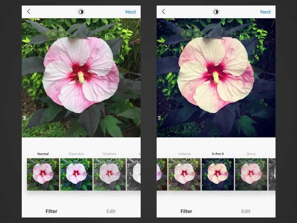 بهترین فیلتر اینستاگرام برای بالا بردن کنتراست: فیلتر X-Pro II
