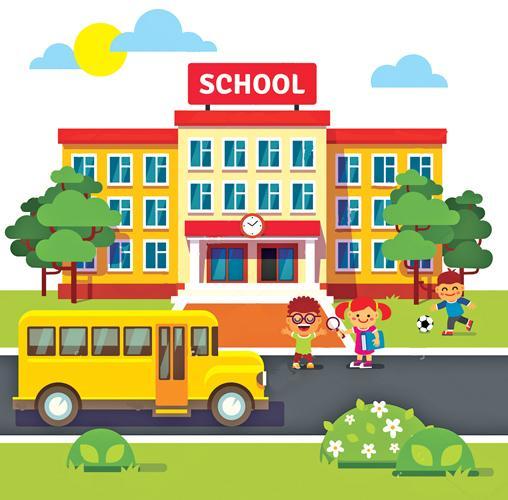 عکس کارتونی مدرسه