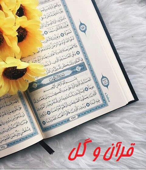 عکس پروفایل قرآن و گل