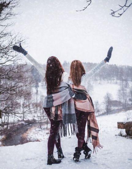 عکس زمستانی دخترانه دوستانه