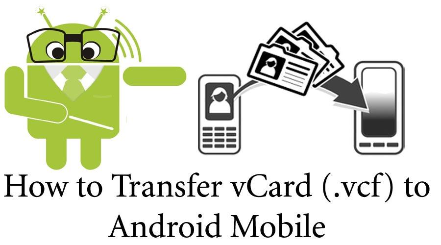 آموزش انتقال شماره تلفن ها با فرمت vcf به اندروید