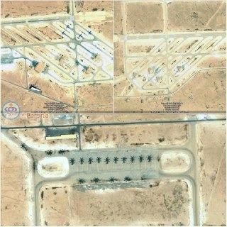 عکس ماهواره ای از پایگاه الاسد
