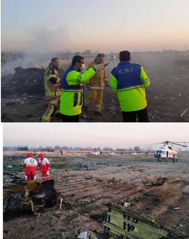 سقوط هواپیمای اکراینی در شهریار تهران