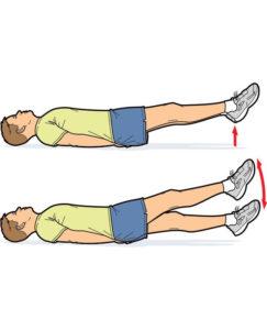 حرکت ورزشی برای آب کردن شکم و پهلو در یک ماه: حرکت قیچی