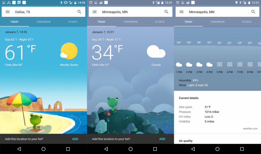 دقیق ترین نرم افزار هواشناسی اندروید فارسی: نرم افزارGoogle