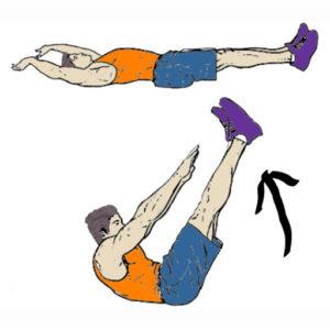 لاغر کردن شکم و پهلو در یک ماه با ورزش : حرکت جک نایف کرانچ