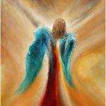 نقاشی زیبای فرشته بالدار