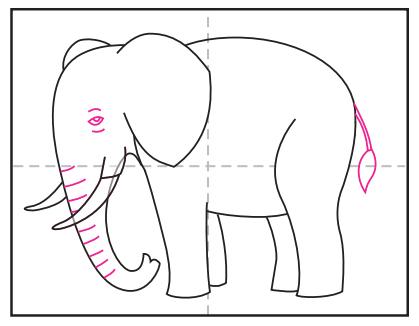 آموزش نقاشی فیل برای کودکان