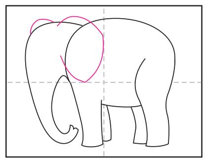 آموزش نقاشی فیل آسان