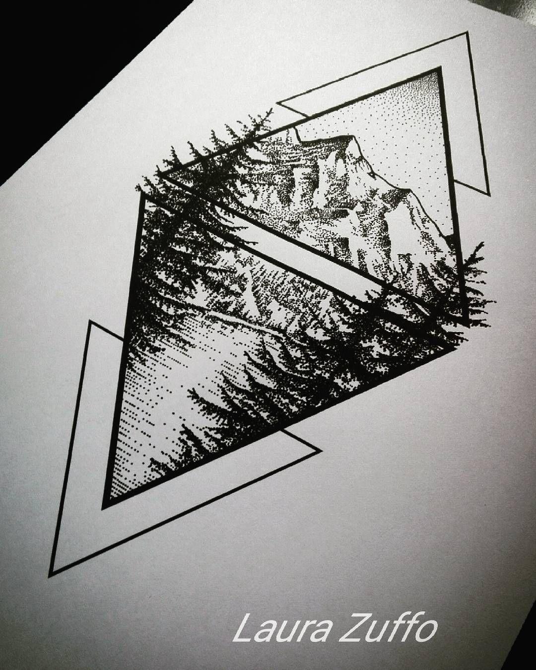 تتو مثلث و درخت