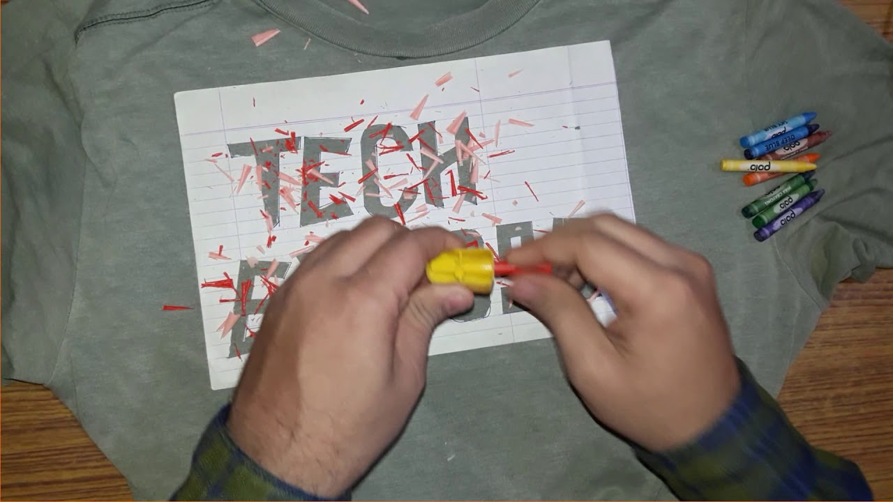 چاپ روی پارچه با مداد شمعی