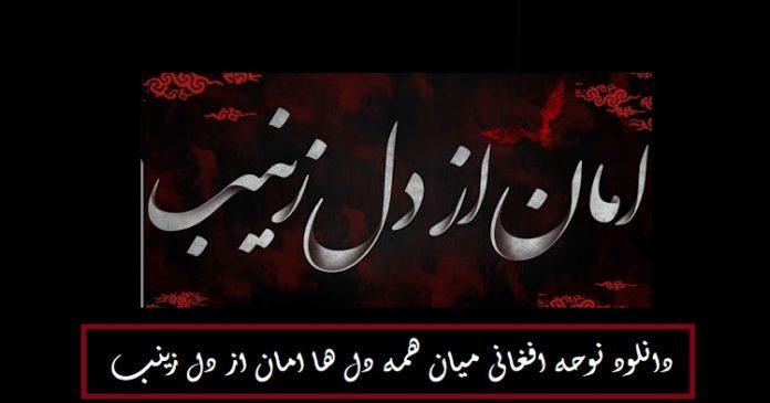 دانلود نوحه افغانی میان همه دل ها امان از دل زینب با کیفیت بالا و متن کامل نوحه