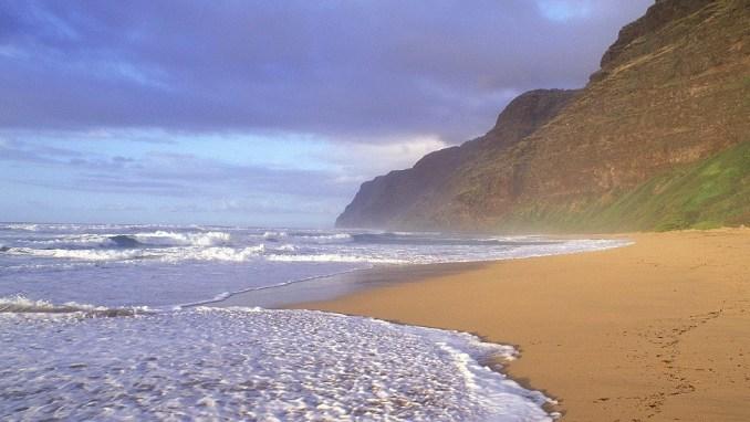 ساحل polihale در آمریکا