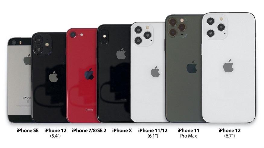 دوربین های عقب آیفون 12