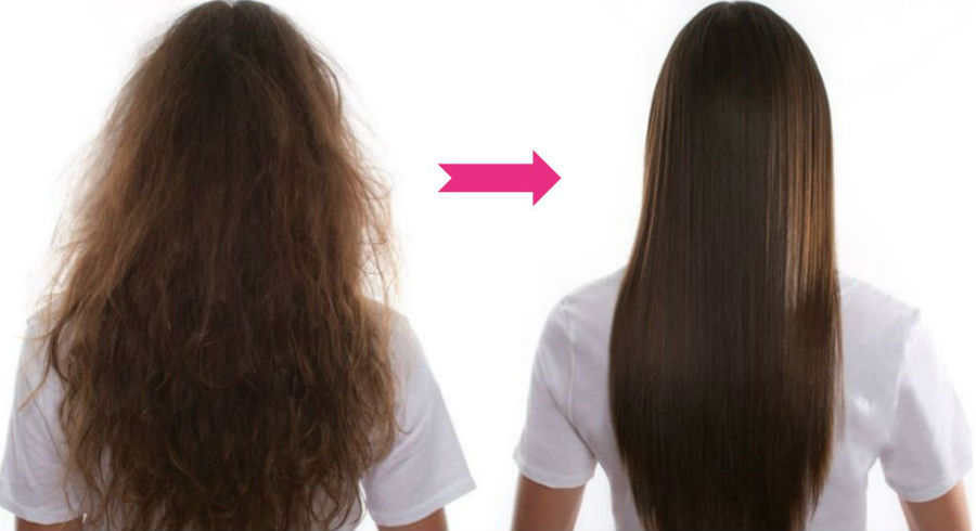 درخانه موهای خود را طبیعی کراتینه کنید!