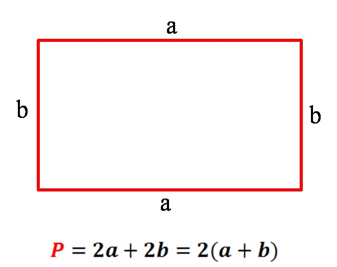 فرمول محاسبه محیط مستطیل (rectangle)