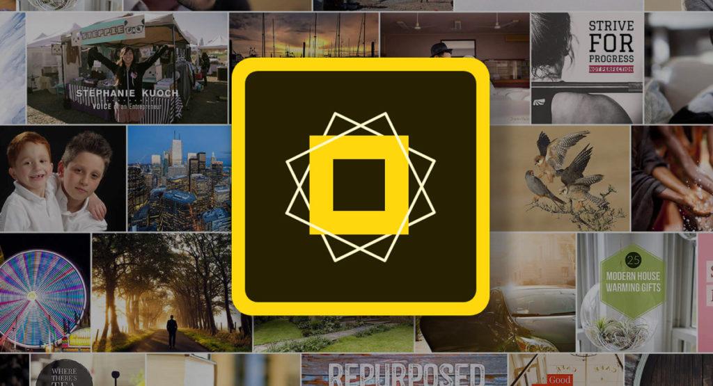 نرم افزار تغییر فونت اینستاگرام Adobe Spark Post