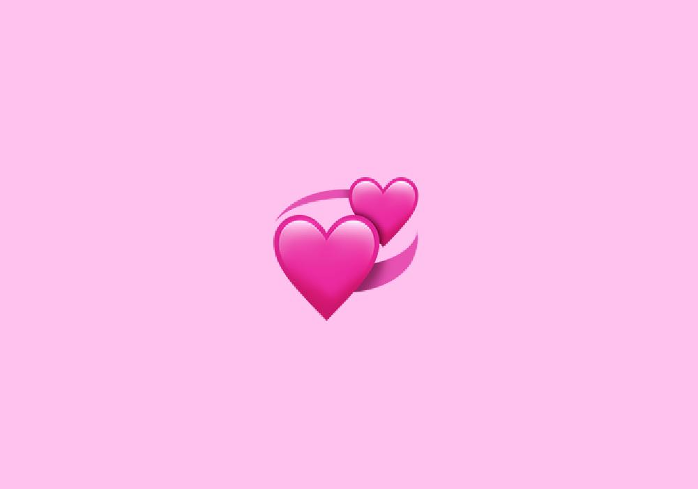 معنی ایموجی دو قلب صورتی