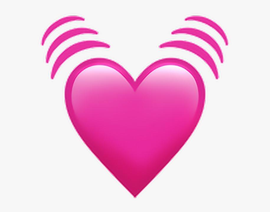 معنی ایموجی قلب صورتی تپنده