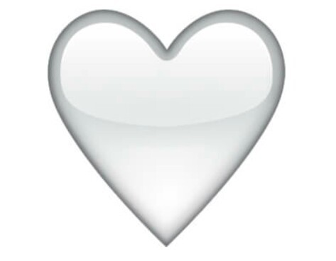 معنی ایموجی قلب سفید چیست