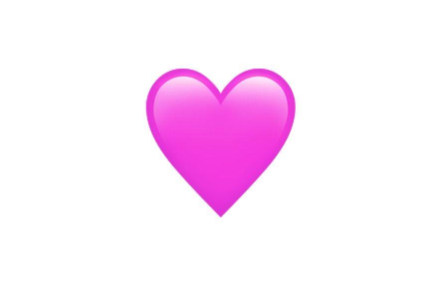 معنی ایموجی قلب صورتی
