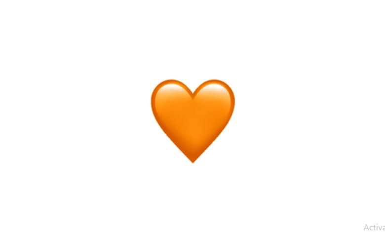 معنی ایموجی قلب نارنجی