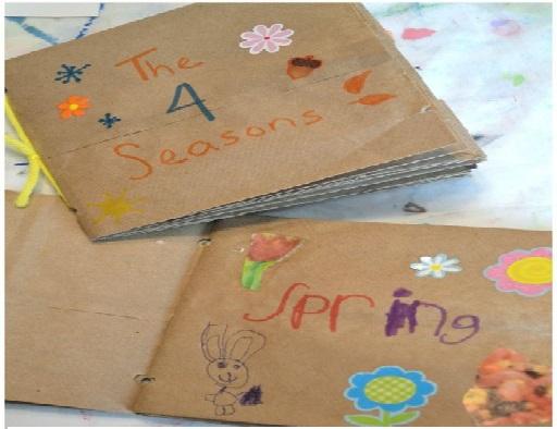 آموزش با کاردستی و نقاشی های چهار فصل