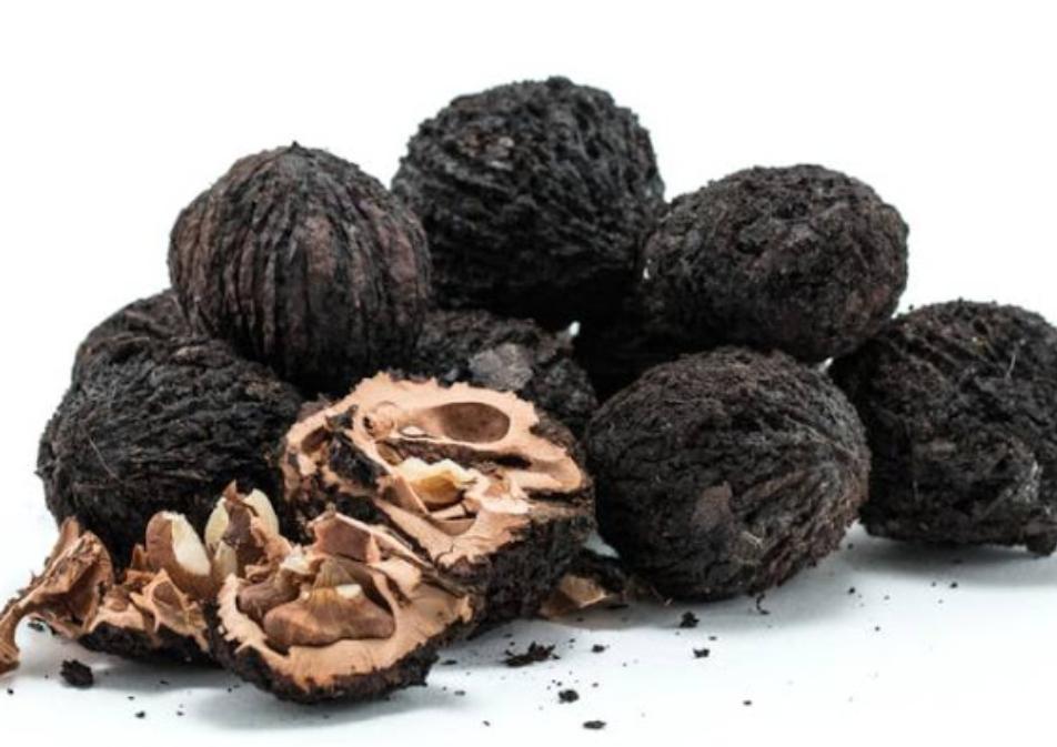 کالری 100 گرم گردوی سیاه خشک شده 618 کالری است