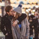 عکس برفی عاشقانه در شب