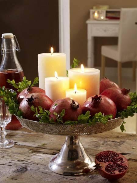 شمع انار برای شب یلدا